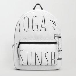 Sunshine Yoga Wine Gifts Backpack