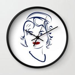 Jackie Kennedy - Hairography Jackie O Wall Clock