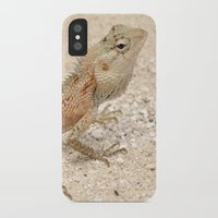 lizard iPhone & iPod Cases featuring Lizard by Bonjourik