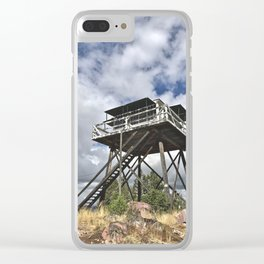Fire Tower II Clear iPhone Case