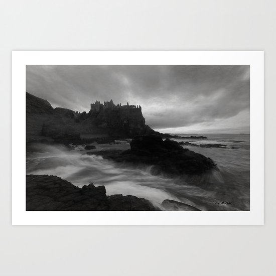 Evening at Dunluce Art Print