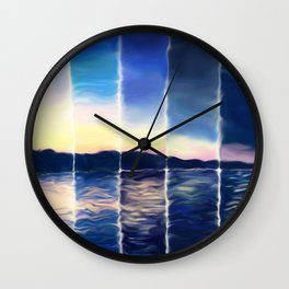 Time Lapse Sunset (painted) Wall Clock