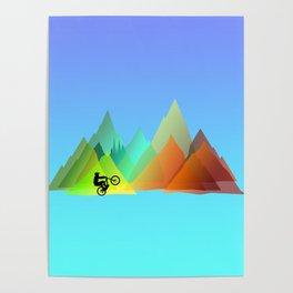MTB Moutains Colors Poster