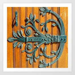 Monte-Carlo Cathedral Door Hinge Art Print