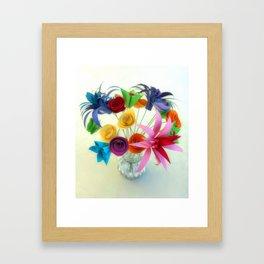 Paper Bouquet Framed Art Print