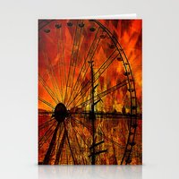 ferris wheel Stationery Cards featuring Ferris wheel by  Agostino Lo Coco