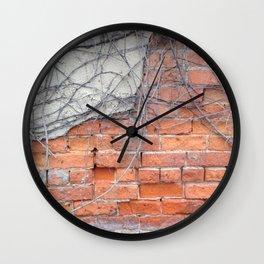Old Brick and Vines Wall Clock