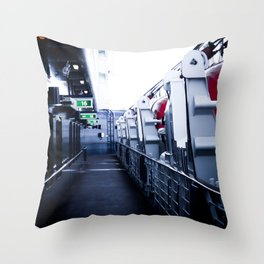 On A Ships Deck Throw Pillow