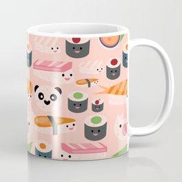 Kawaii sushi light pink Coffee Mug
