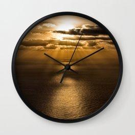 Sunrise over the Atlantic ocean Wall Clock