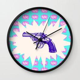Purple Gun Wall Clock