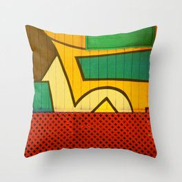 Jamaican Wall Throw Pillow