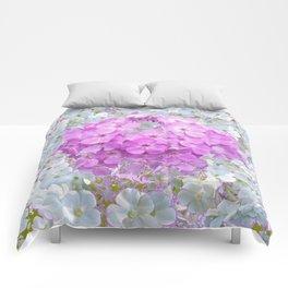 LILAC & WHITE PHLOX FLOWERS Comforters
