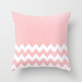 Pink Half Chevron Pattern Throw Pillow
