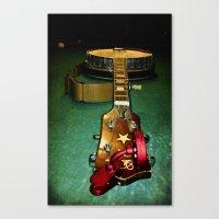 banjo Canvas Prints featuring Banjo by Vinnie Ruddy