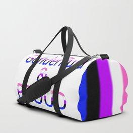 Genderfluid and Proud (white bg) Duffle Bag