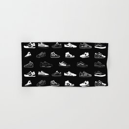 Black Sneaker Hand & Bath Towel