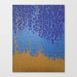 Blue and Gold 01 Canvas Print
