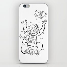 Ninja Master of Magic - ink iPhone Skin