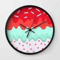 cupcake Wall Clocks featuring Cupcake by Kakel