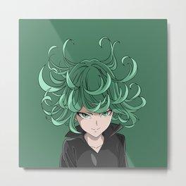 Tatsumaki Hairs Up Metal Print