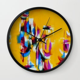 African American Masterpiece 'By the Harbor, Rhode Island' by Norman Lewis Wall Clock