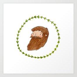 Bearded Bloke Art Print