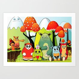 The Gang Art Print