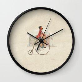 Old cycling Wall Clock