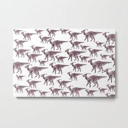 Parasaurlophuses Metal Print