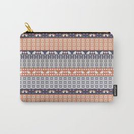 Fair Isle Christmas Guinea pig Pattern Carry-All Pouch