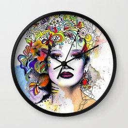 Fantasy Flower Girl Wall Clock