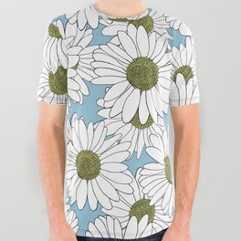 Daisy Blue All Over Graphic Tee