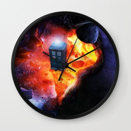 Space Tardis Wall Clock