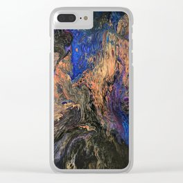 Galaxy Dance - Cosmos Celestial Universe and Space Inspired Abstract Fluid Art Clear iPhone Case