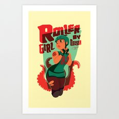Roller Girl  Art Print