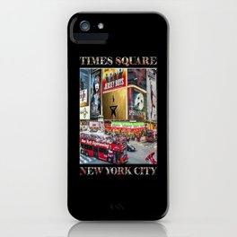 Times Square II (widescreen on black) iPhone Case