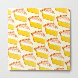 Lemon Meringue Pie Pattern Metal Print