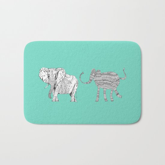 two ways to see one elephant Bath Mat