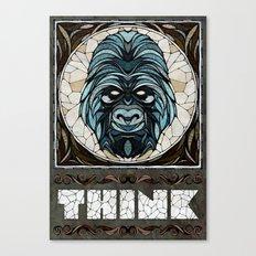 Think Canvas Print