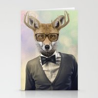 ben giles Stationery Cards featuring BEN by Hagara Stuff