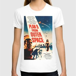 Plan 9 from Outer Space, vintage movie poster T-shirt