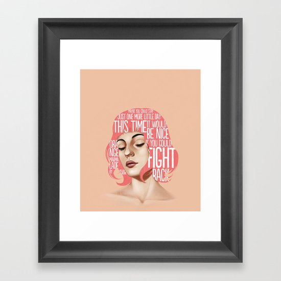 Songs VII. Framed Art Print