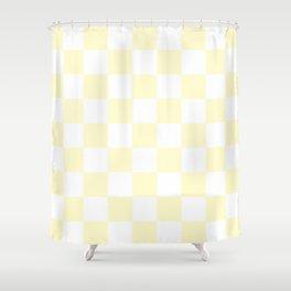 Checker (Cream/White) Shower Curtain