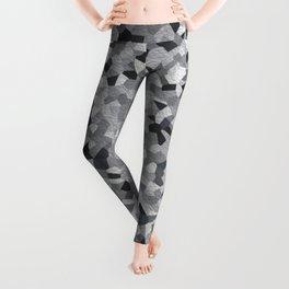 white irregular shape pattern Leggings