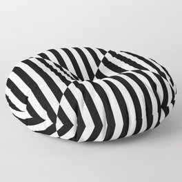 OPTIC ILLUSION (BLACK-WHITE) Floor Pillow