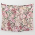 Romantic Flower Pattern And Birdcage by lebensart