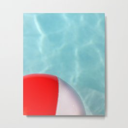 Beach Ball Pool Metal Print
