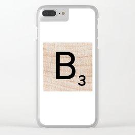 Scrabble Tile - Letter B - Letter Art  Clear iPhone Case
