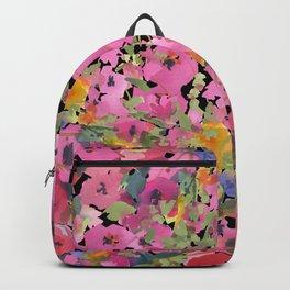 Pink Hollyhock Garden Backpack